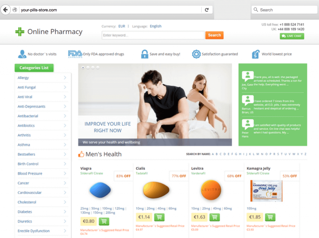 image of your-pills-store.com homepage