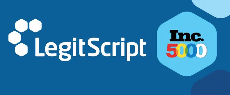 LegitScript and Inc 5000