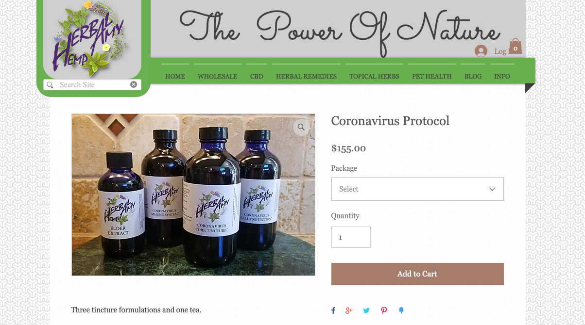 "Essential oils marketed as ""Coronavirus Protocol"""