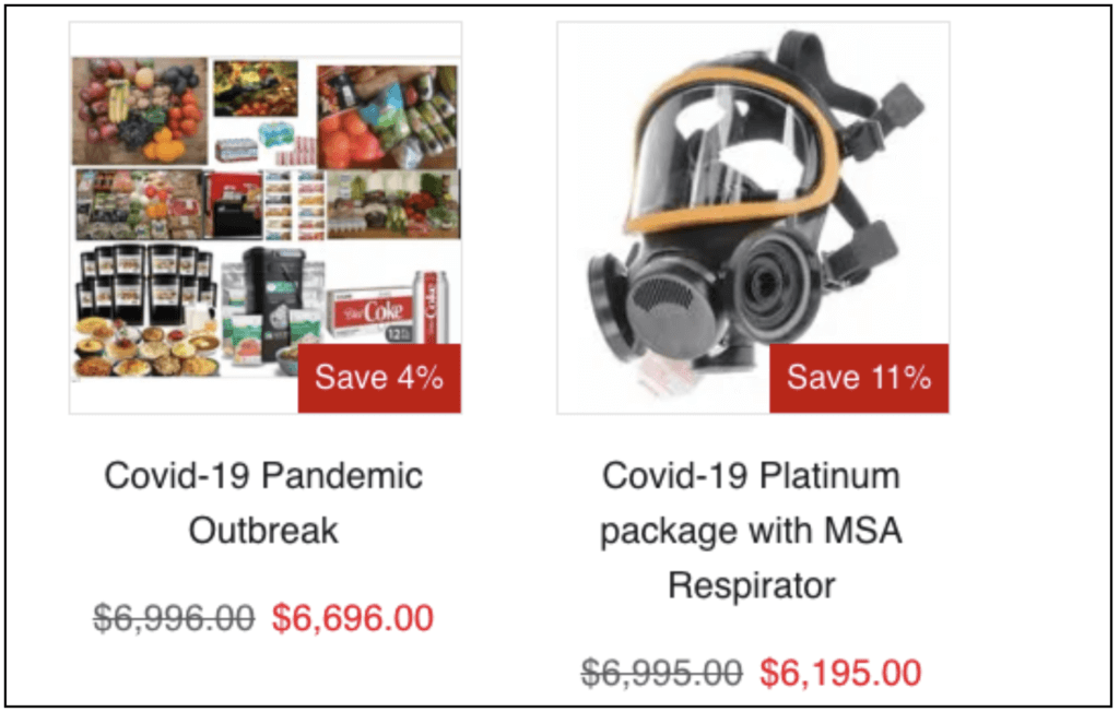 overpriced respirator and kit for sale