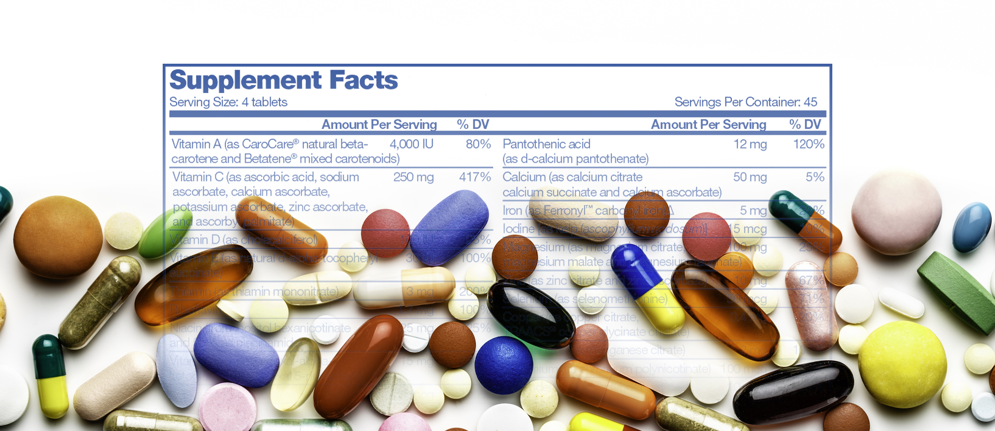 Supplement Facts Label