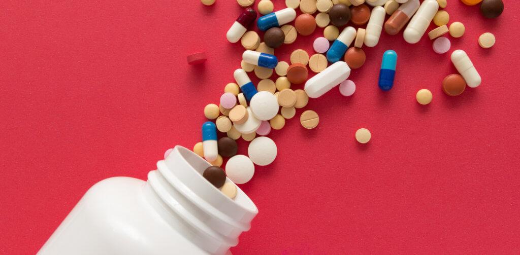 bottle spilling pills