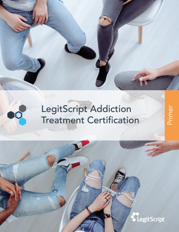 Legitscript Addiciton Treatment Certification