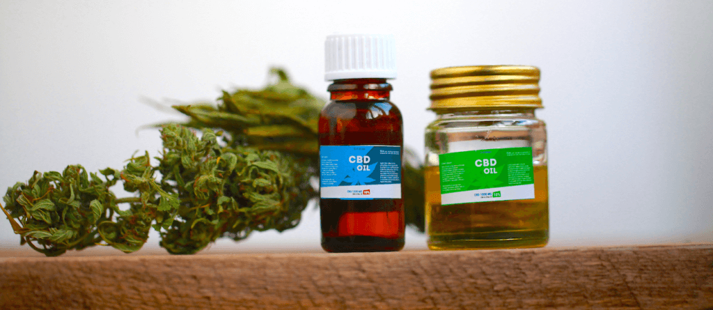 generic image of cbd oil and marijuana