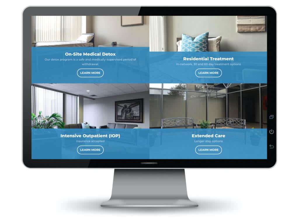 Computer monitor displaying IARC website