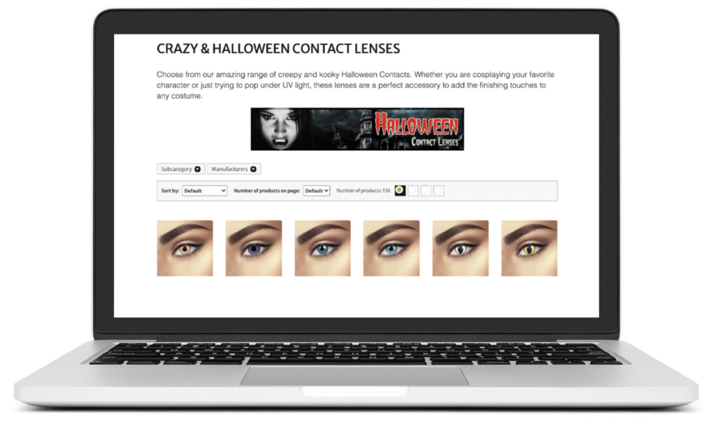 website selling contact lenses