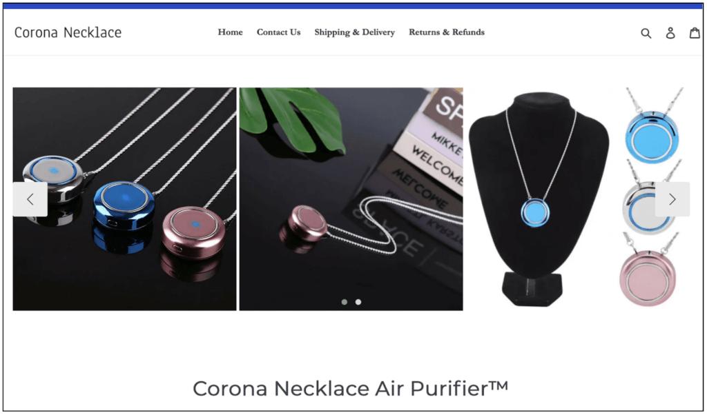 corona necklace