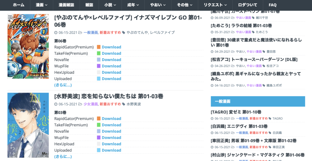 an illegal japanese streaming website