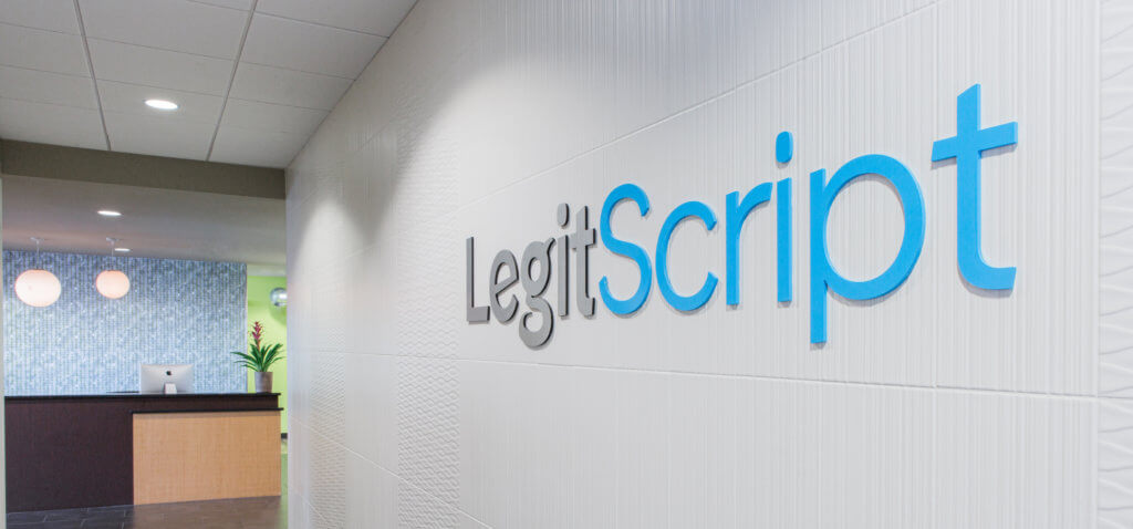 front office of legitscript