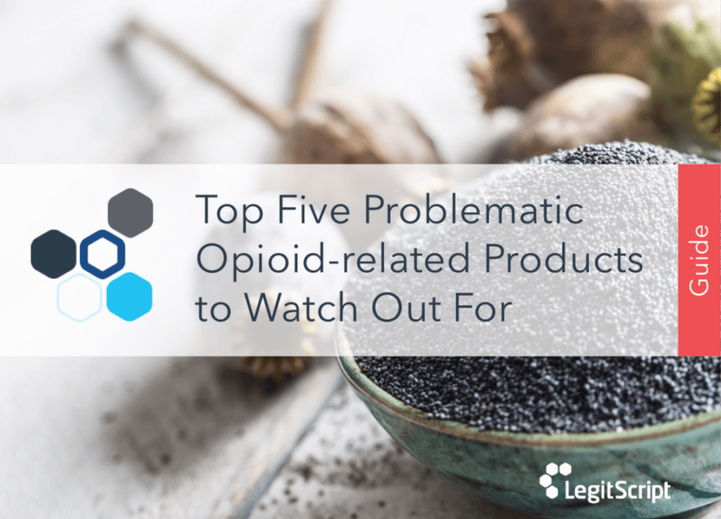 Top  five problematic opioid-related products to watch out for