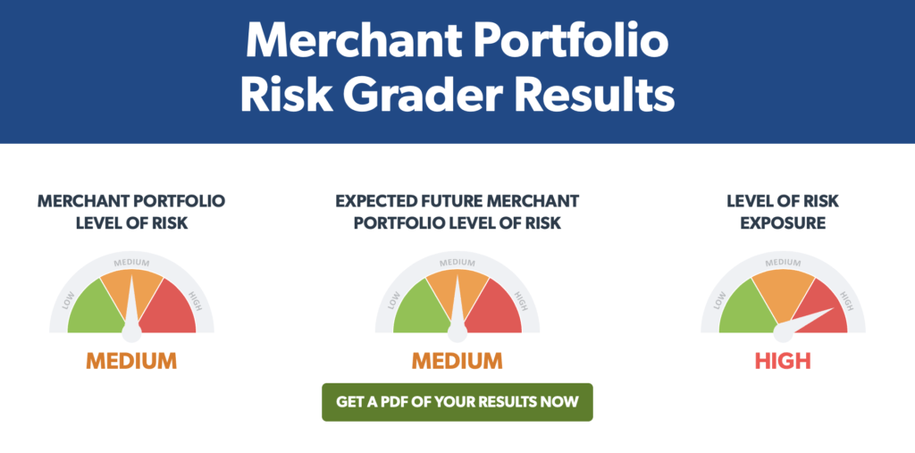 Results of a merchant monitoring risk grader